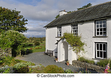 Whitewashed country cottage
