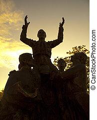 Bullfighter Sculpture in Plaza de Toros Ventas, Madrid