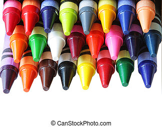 Color Crayons - Closeup of color crayon for abstract...