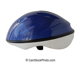 Helmet - Blue bike helmet for kids isolated on white