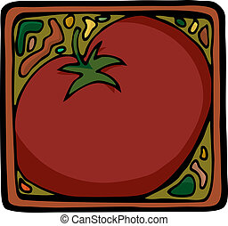 Tomato Design - Square design for tomatoes or ingredients as...