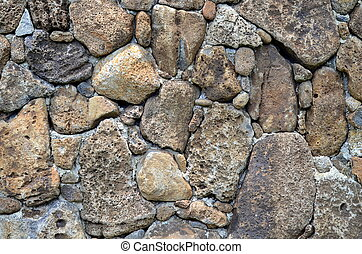 Abstract Background Texture Of A Stone Wall