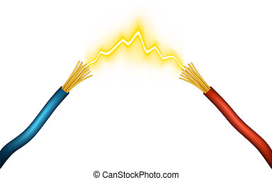 Spark - Editable vector illustration of an electrical spark...