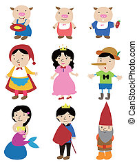 cartone animato, storia, Persone, icona