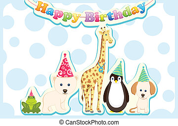 Animals Celebrating Birthday