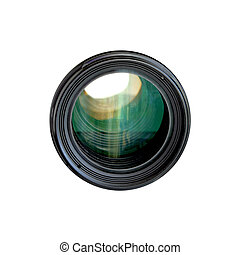 Camera Lens - Tele camera lens isolated on white background