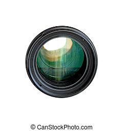 Camera Lens - Tele camera lens isolated on white background