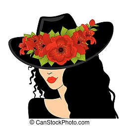 Beautiful girl in hat