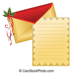 Christmas celebratory envelope