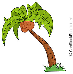 Cartoon Palm Three