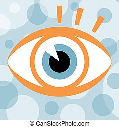 Striking eye design. - Striking eye design with circular...