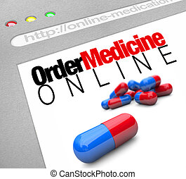 Order Medicine Online - Web Screen - A web browser window...