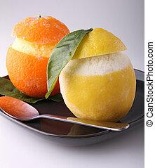 iced orange and lemon
