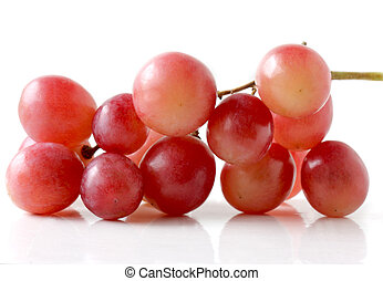 Global Grapes - cluster of red global grapes isolated on...
