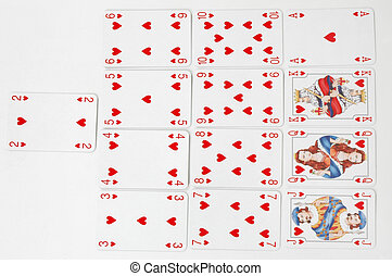 Hearts Suit - Set of playing cards -Hearts suit