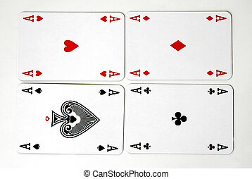 Aces - Four aces -playing cards