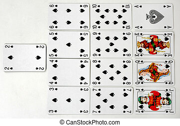 Spades Suit - Set of playing cards - Spades Suit