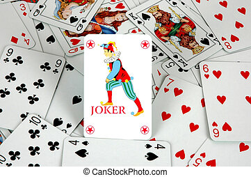 Joker amongst playing cards