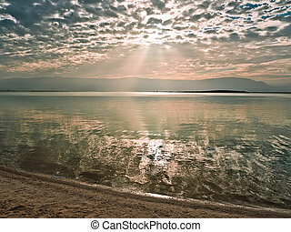 Sunrise over the Dead Sea in Israel