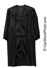 Graduation Gown - Dark blue color graduation gown isolated...