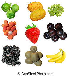 Fruit Set - Set of fruits isolated on white background