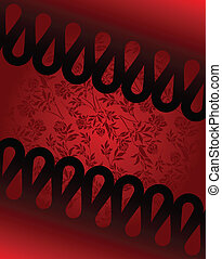 Black and red diagonal background