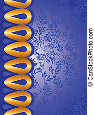 Blue background with golden elements