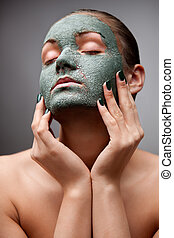 Spa dreams. - A portrait of a beautiful relaxing lady with a...