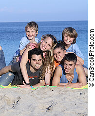 extended family kids on holiday or vacation