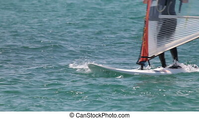 windsurfer race