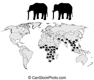 Elephants range