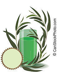 eucalyptus eps 10 - vector illustration of the glass with...
