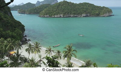 ang thong tropical island - seascape of Ang Thong tropical...