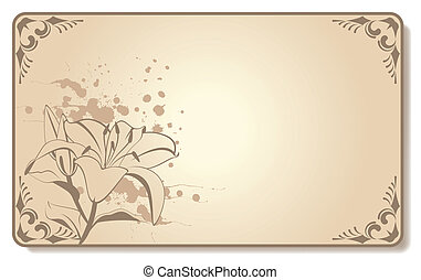 beautiful flowers - abstract visiting-card with beautiful...