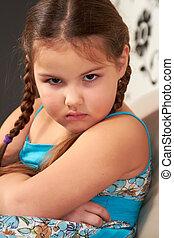 Evil little girl.