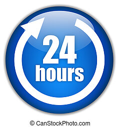 Twenty four hours logo - Twenty four hours service logo