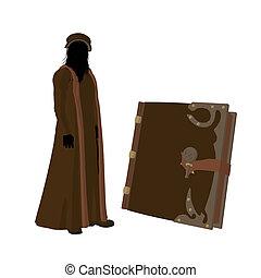 Leonardo Da Vinci Illustration Silhouette - Leonardo Da...