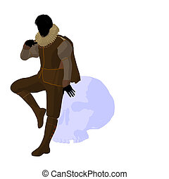 William Shakespeare Illustration Silhouette - William...