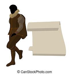 William Shakespeare Illustration Silhouette - William...