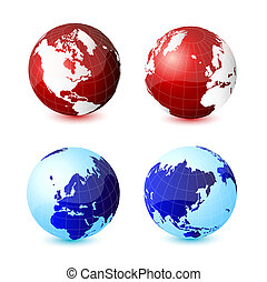World global planet earth icon