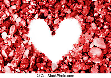 Heart shape out of small rocks - Heart shape out of small...