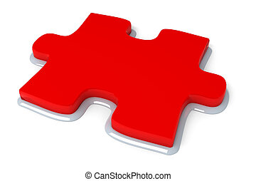 Red puzzle piece