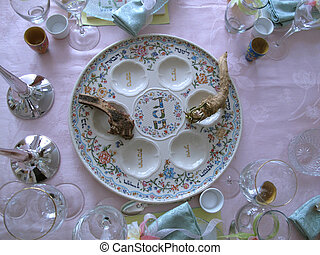 Passover - Traditional Passover Holiday Seder Table...