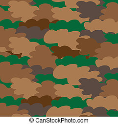 camouflage - The vector image of a camouflage in the form of...