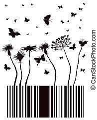 barcode garden - barcode designed in garden form