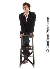 Stylish Teenager in suit jacket - Stylish teenage male...