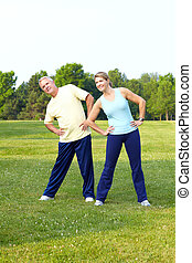 Senior sport - Fitness and healthy lifestyle Senior couple...