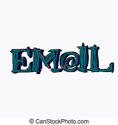 blue email