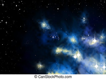 stardust - blue space nebular