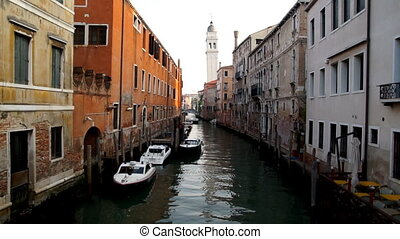Canal in Venice, Italy, morning